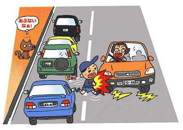 自転車事故 自転車事故 事例 : 事例−12.薄暮時の飛び出し事故 ...